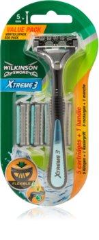 Wilkinson Sword Xtreme 3 Hybrid holiaci strojček náhradné čepieľky 4 ks