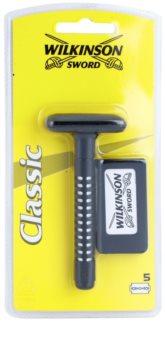 Wilkinson Sword Classic aparelho barbear + cabeças de substituição 5 pçs