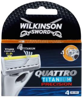 Wilkinson Sword Quattro Titanium Precision recarga de lâminas 4 pçs