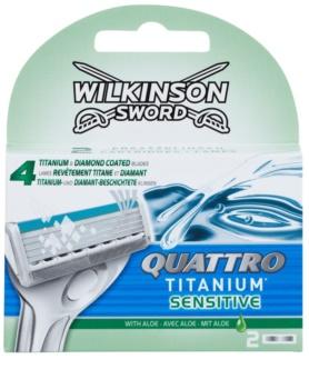 Wilkinson Sword Quattro Titanium Sensitive Ersatzklingen