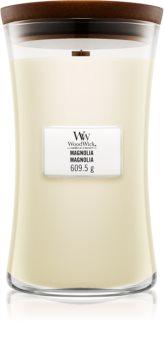 Woodwick Magnolia bougie parfumée avec mèche en bois