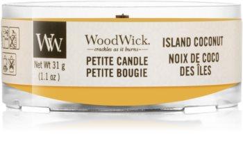 Woodwick Island Coconut velas votivas com pavio de madeira 31 g