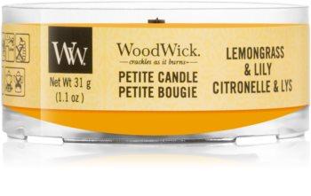 Woodwick Lemongrass & Lily velas votivas com pavio de madeira 31 g