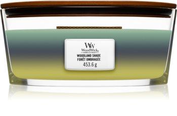 Woodwick Trilogy Woodland Shade vela perfumada com pavio de madeira (hearthwick) 453,6 g