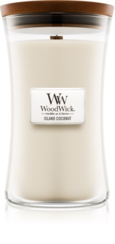 Woodwick Island Coconut bougie parfumée 609,5 g grande