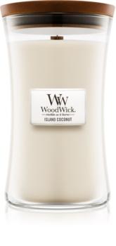 Woodwick Island Coconut vonná svíčka 609,5 g velká