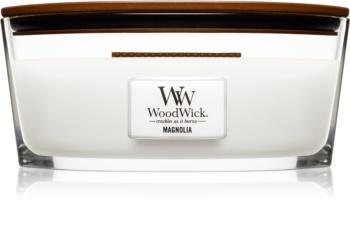 Woodwick Magnolia illatos gyertya  453,6 g fa kanóccal (Hearthwick)