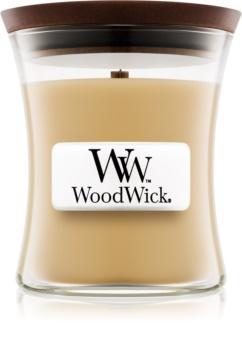 Woodwick At The Beach lumânare parfumată  85 g cu fitil din lemn