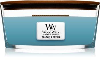 Woodwick Sea Salt & Cotton Duftkerze  453,6 g mit Holzdocht (Hearthwick)
