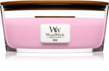 Woodwick Rose ароматна свещ  с дървен фитил (hearthwick) 453,6 гр.