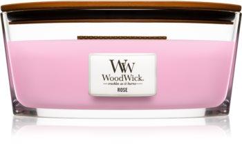 Woodwick Rose vonná sviečka 453,6 g s dreveným knotom (Hearthwick)