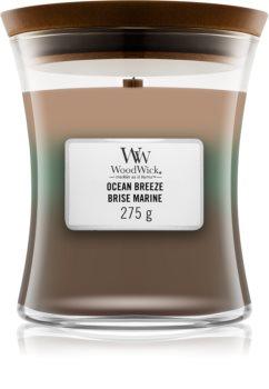 Woodwick Trilogy Ocean Breeze vonná sviečka s dreveným knotom