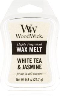 Woodwick White Tea & Jasmine Duftwachs für Aromalampe 22,7 g