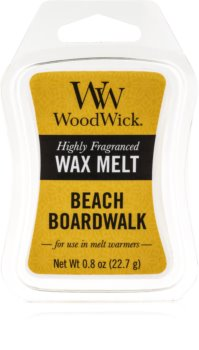 Woodwick Beach Boardwalk cera per lampada aromatica 22,7 g