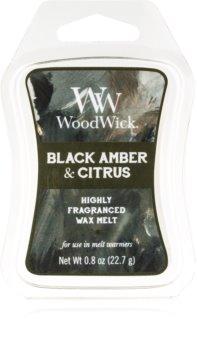 Woodwick Black Amber & Citrus wosk zapachowy 22,7 g Artisan