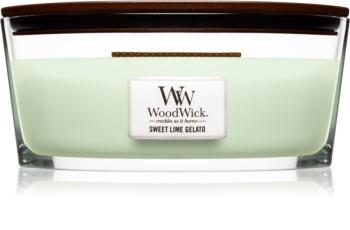 Woodwick Sweet Lime Gelato bougie parfumée avec mèche en bois (hearthwick) 453,6 g