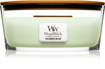 Woodwick Cucumber Melon ароматизована свічка  453,6 гр Hearthwick