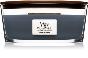 Woodwick Evening Onyx candela profumata 453,6 g con stoppino in legno (Hearthwick)