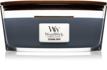Woodwick Evening Onyx illatos gyertya  fa kanóccal (hearthwick) 453,6 g