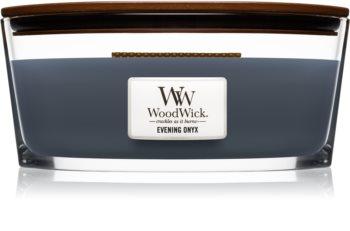 Woodwick Evening Onyx lumânare parfumată  cu fitil din lemn (hearthwick) 453,6 g