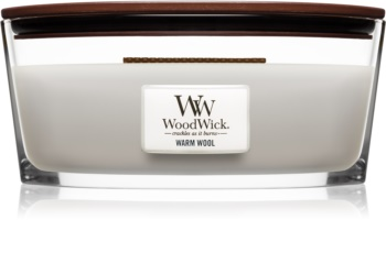 Woodwick Warm Wool scented candle wooden wick (hearthwick)