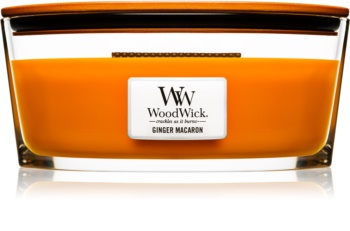 Woodwick Ginger Macaron ароматизована свічка  453,6 гр Hearthwick