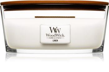 Woodwick Linen bougie parfumée avec mèche en bois (hearthwick) 453,6 g