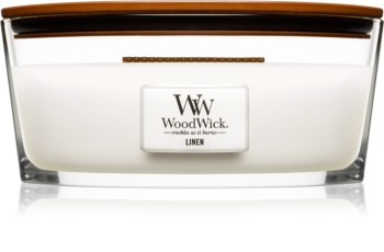 Woodwick Linen Scented Candle 453,6 g Hearthwick