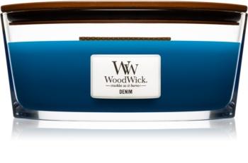 Woodwick Denim Duftkerze  453,6 g mit Holzdocht (Hearthwick)