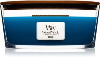 Woodwick Denim świeczka zapachowa  453,6 g z drewnianym knotem (Hearthwick)