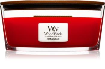 Woodwick Pomegranate dišeča sveča  453,6 g z lesenim stenjem (Hearthwick)