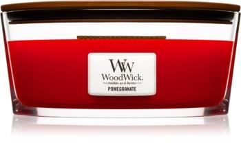 Woodwick Pomegranate świeczka zapachowa  z drewnianym knotem (hearthwick) 453,6 g