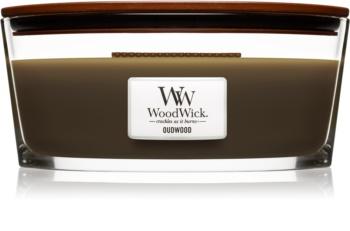 Woodwick Oudwood świeczka zapachowa  453,6 g z drewnianym knotem (Hearthwick)