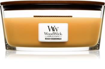 Woodwick Beach Boardwalk Duftkerze  453,6 g mit Holzdocht (Hearthwick)