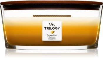 Woodwick Trilogy Café Sweets candela profumata con stoppino in legno (hearthwick) 453,6 g