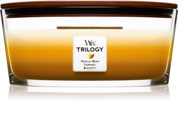 Woodwick Trilogy Café Sweets illatos gyertya  453,6 g fa kanóccal (Hearthwick)