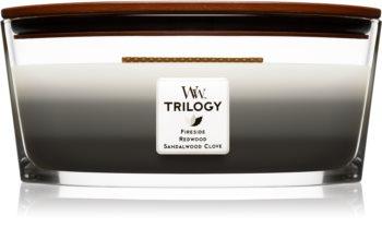 Woodwick Trilogy Warm Woods vonná sviečka 453,6 g Hearthwick