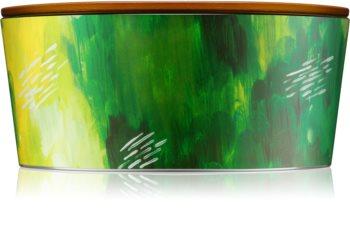 Woodwick Artisan Ellipse Lime Bergamot vonná sviečka 453,6 g s dreveným knotom (Hearthwick)