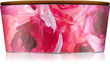 Woodwick Artisan Ellipse Red Currant & Cedar Geurkaars 453,6 gr met een houten lont (Hearthwick)