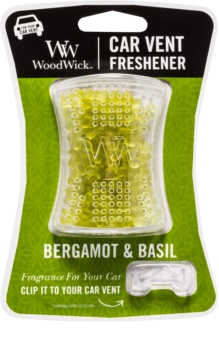 Woodwick Bergamot & Basil Car Air Freshener   Clip