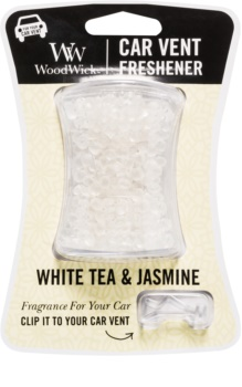 Woodwick White Tea & Jasmin Car Air Freshener   Clip