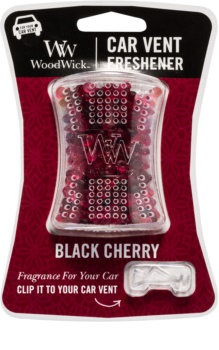 Woodwick Black Cherry Car Air Freshener   Clip
