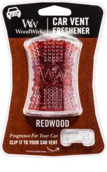 Woodwick Red Wood Car Air Freshener   Clip