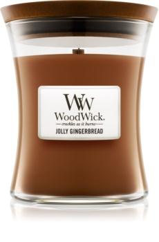 Woodwick Jolly Gingerbread vonná svíčka 275 g střední