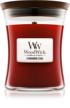 Woodwick Cinnamon Chai lumânare parfumată  275 g mediu