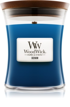 Woodwick Denim vonná sviečka 275 g stredná