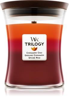 Woodwick Trilogy Exotic Spices candela profumata 275 g medio