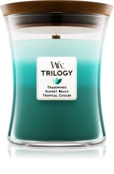 Woodwick Trilogy Ocean Escape bougie parfumée 275 g moyenne