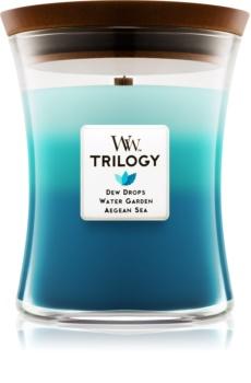 Woodwick Trilogy Gentle Rain lumânare parfumată  275 g mediu