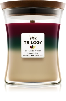 Woodwick Trilogy Christmas Classic świeczka zapachowa  275 g średnia
